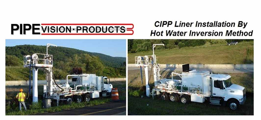 CIPP Liner Installation by Hot Water Inversion Method